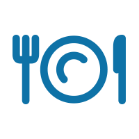 icon showing knife fork and plate