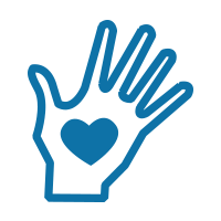 Icon of hand with a heart in it